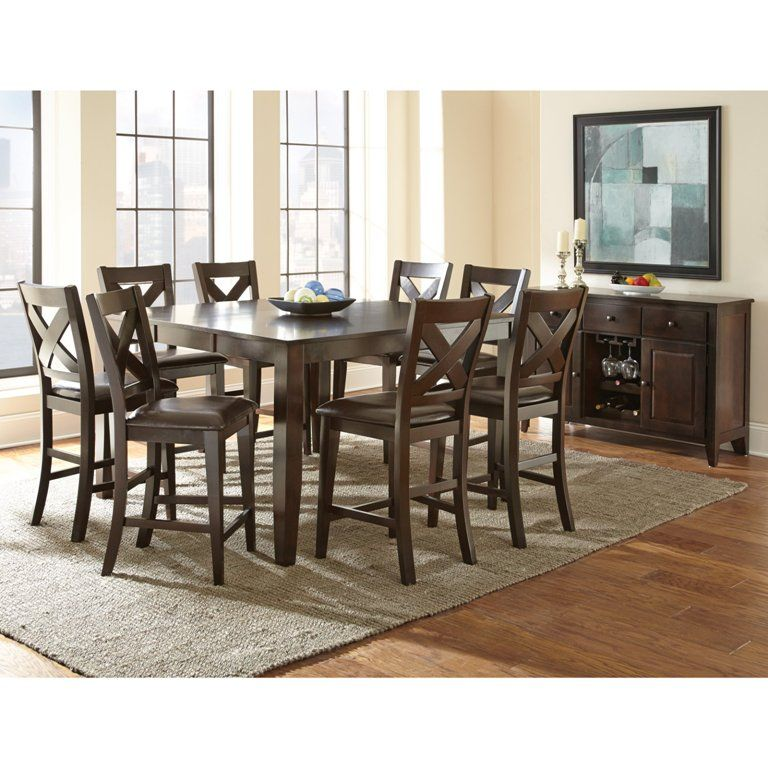 Kitchen Nice Minimalist Counter Height Dining Table Set By True Contemporary Also