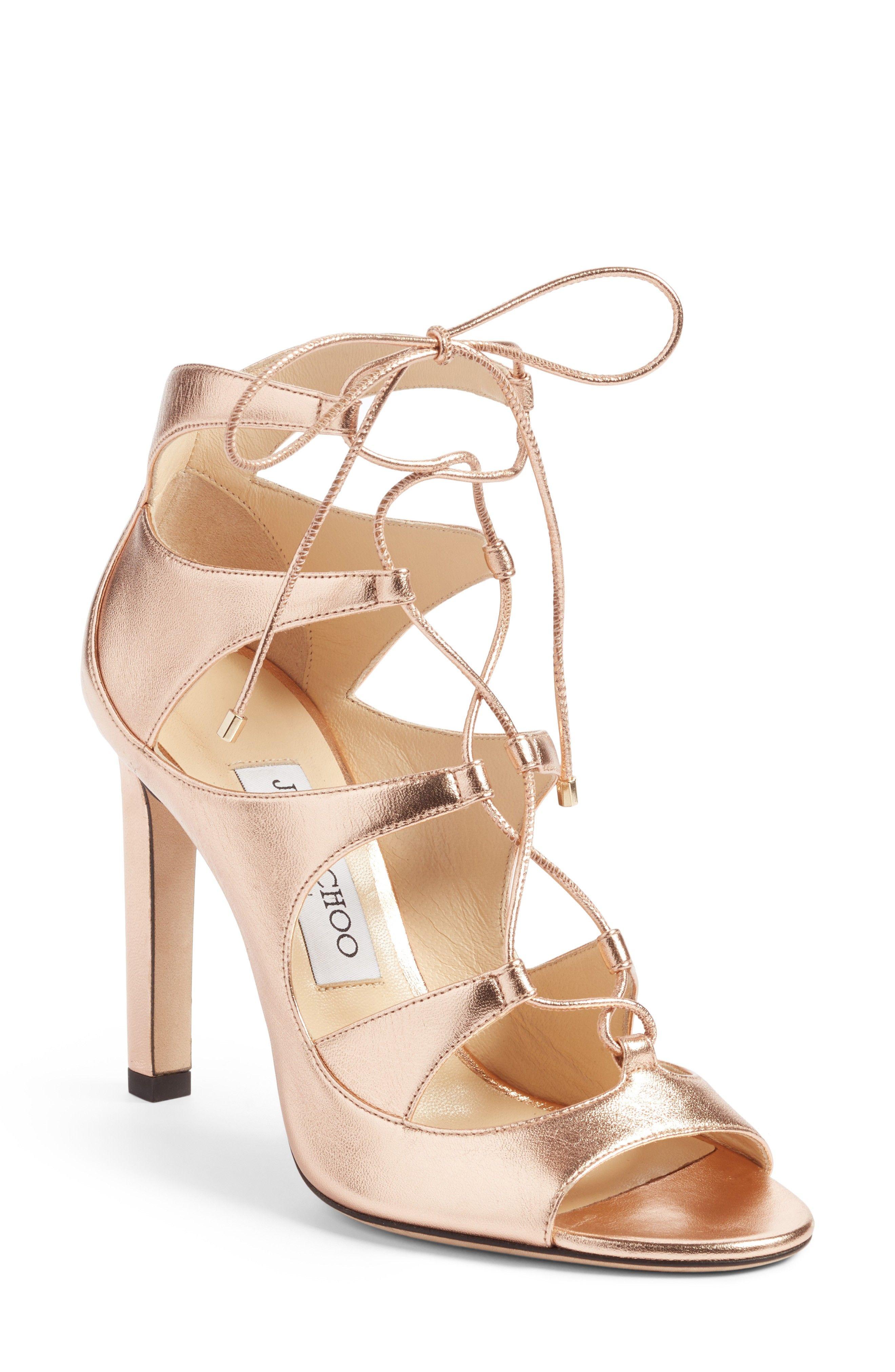 Jimmy Choo Rose Gold Sandals - Blake