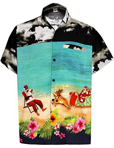 9380535c LA LEELA Aloha Hawaiian Tropical Beach Solid plain Mens C... https:/
