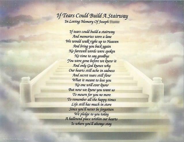 Saying Goodbye Poems Death
