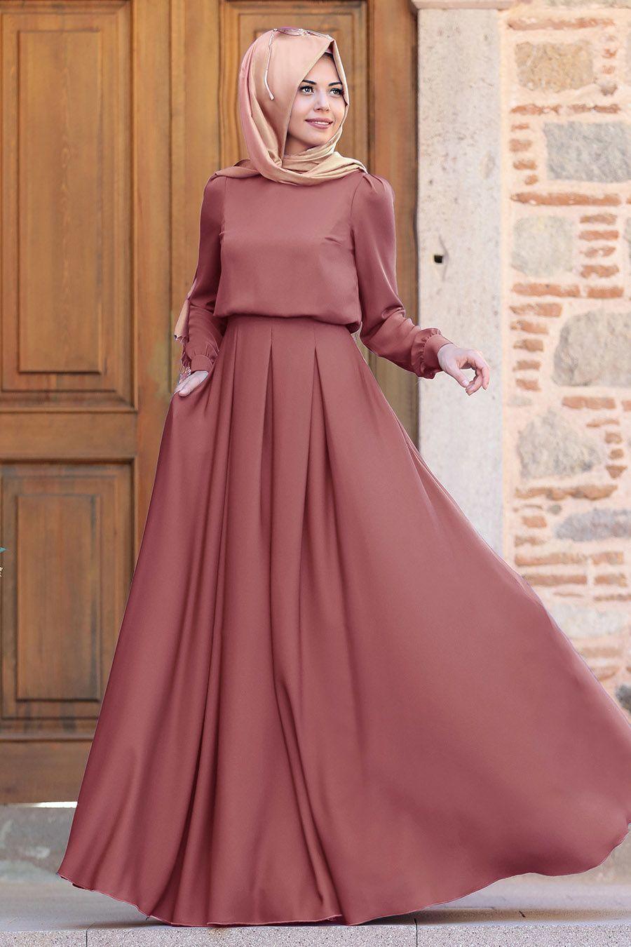 Tesetturlu Abiye Elbise Gulce Kiremit Tesettur Abiye Elbise 6753krmt Tesettur Modelleri 2020 In 2020 Muslim Fashion Outfits Muslim Dress Muslim Fashion