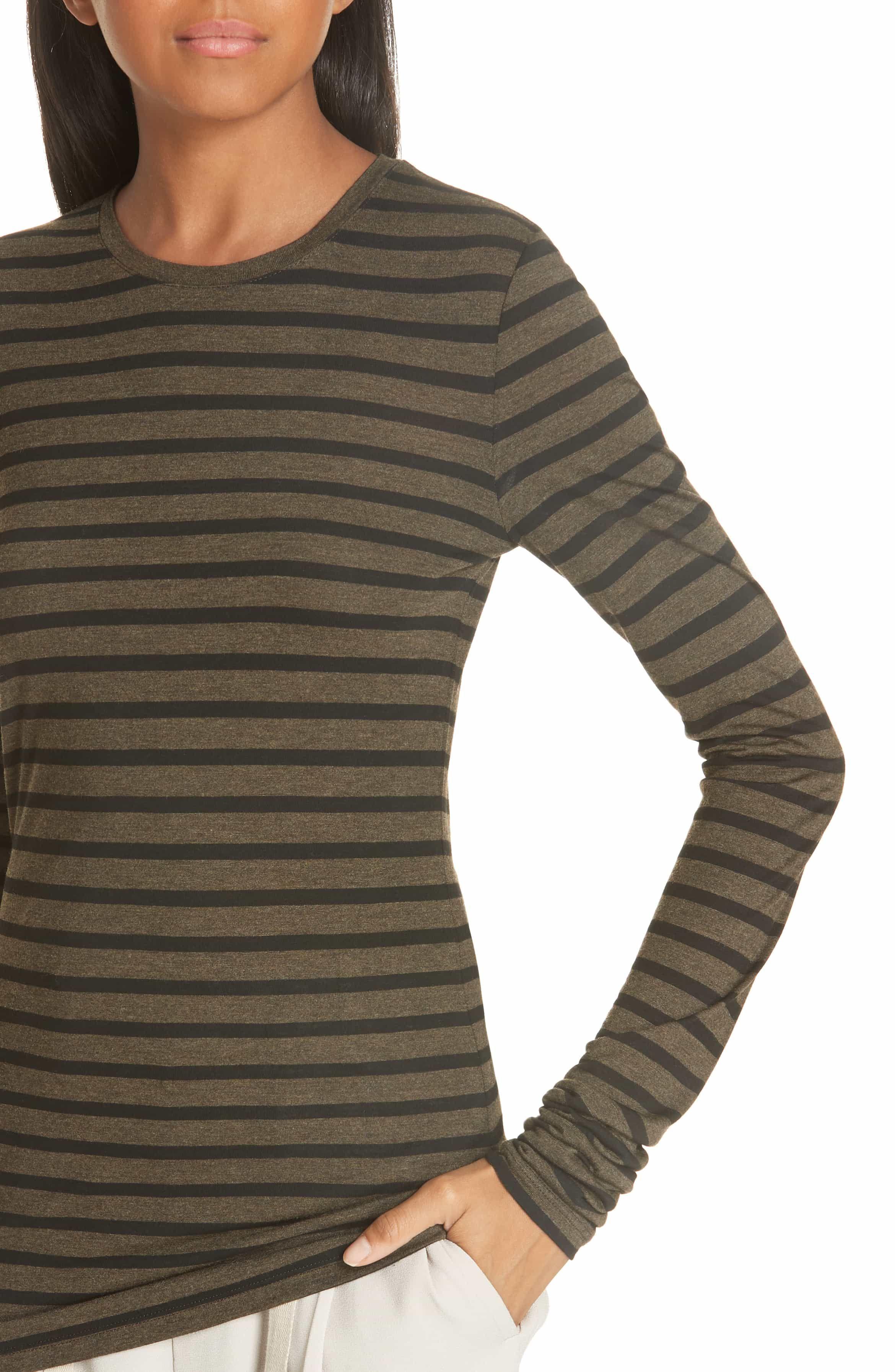 52d83aba5 Long Sleeve Tee Shirts · Heather Stripe Top