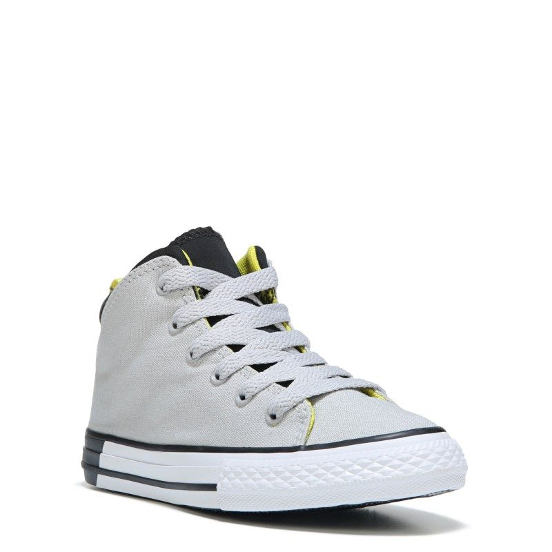 0374ef716db0c0 Converse Kids  Chuck Taylor All Star Official High Top Sneakers (Grey Black  Yellow) - 11.0 M