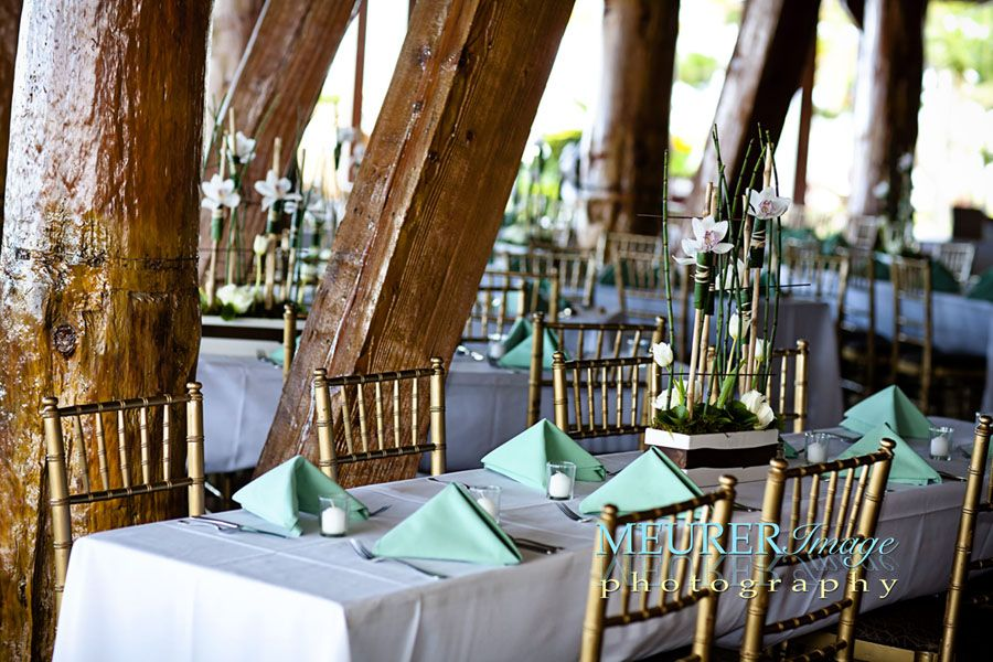 Bali Hai Restaurant Green And White Wedding Venue
