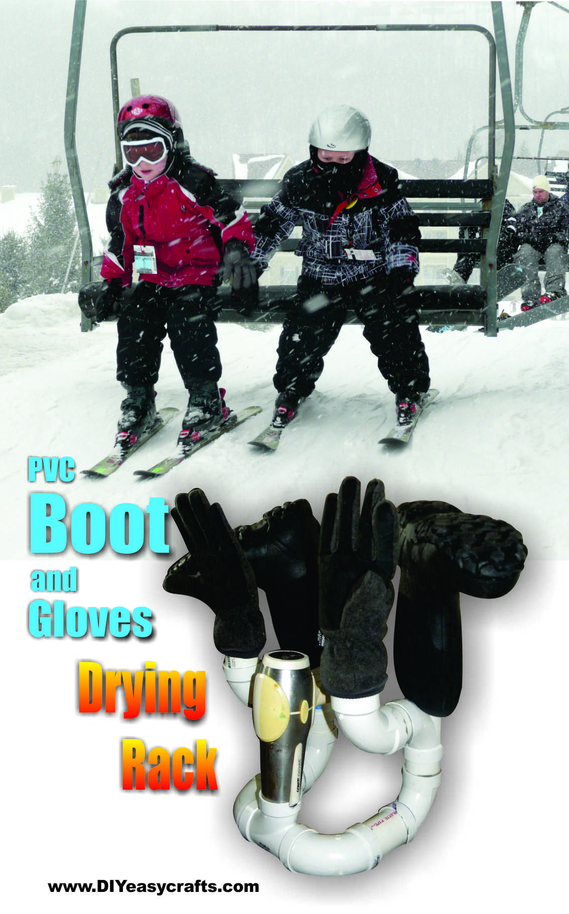 Diy pvc boot and gloves drying rack diyeasycrafts diy diy easy pvc boot and glove drying rack anyone that works or plays outdoors in the winter can benefit from this boot and gloves dryer solutioingenieria Images