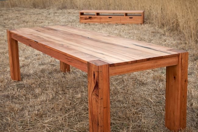 Amazing Solid Timber Dining Table And TV Stand Set
