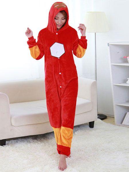 5bddcb142a Kigurumi Adult Onesie Iron Man Pajama Red Flannel Cosplay Costume ...
