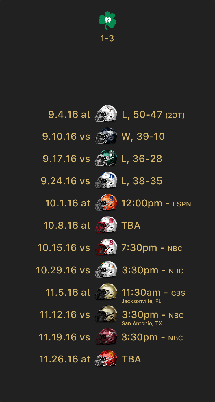 2016 notre dame football schedule dark mode for iphone 6/7 | notre