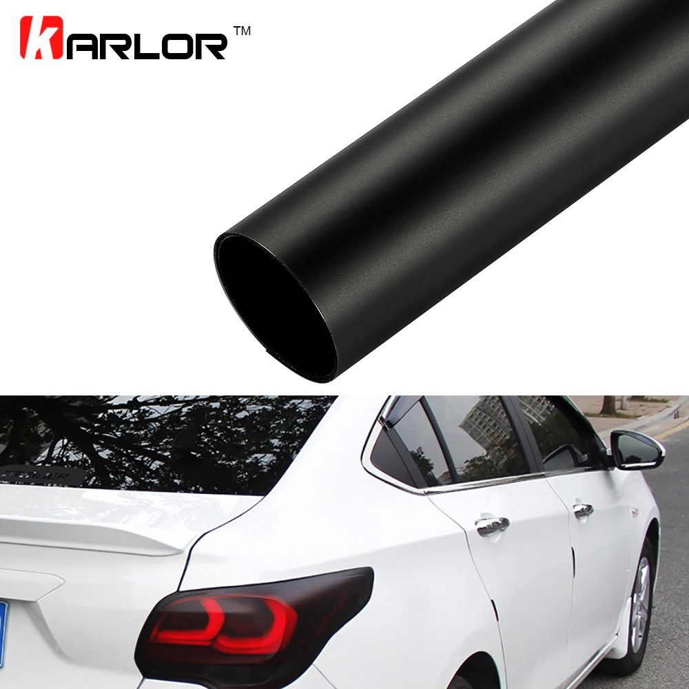 12x48 Light Black Auto Car Sticker Smoke Fog Light Headlight Taillight Tint Film Sheet