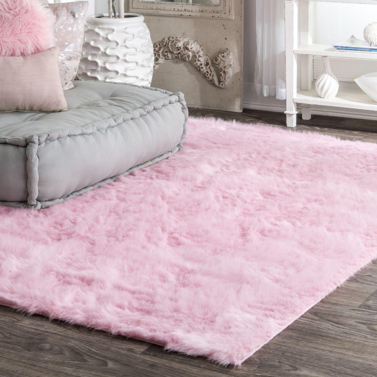 Serenity Shag Rug Pink Shag Rug Pink Rug Bedroom Carpet