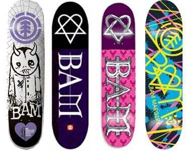 a117964ab11d BAM...No wonder Ethan wants a Pink Skate Board!   Bam margera<3 ...