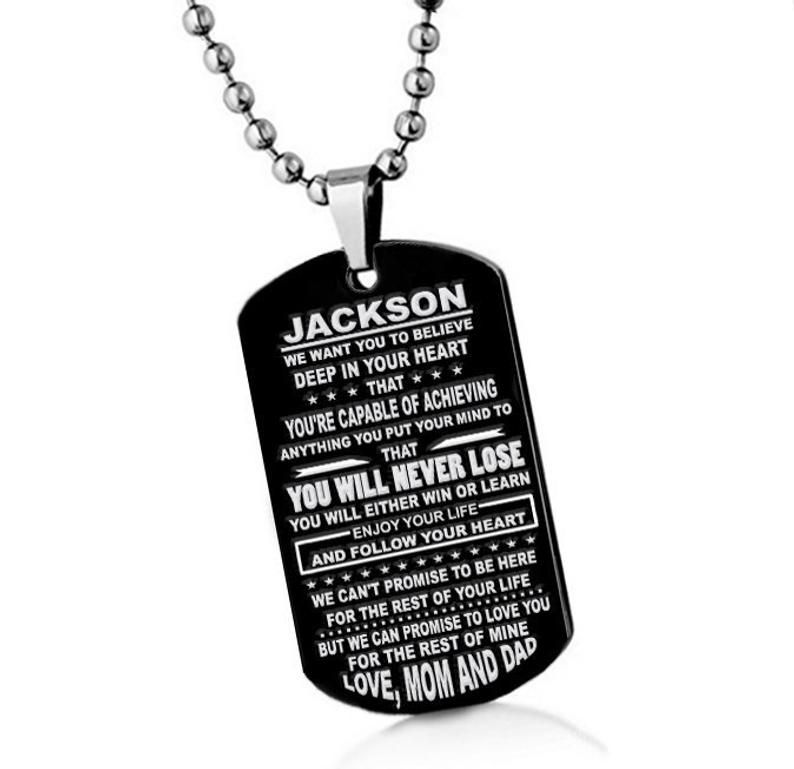 Custom son gift to my son pendant necklace son gift from