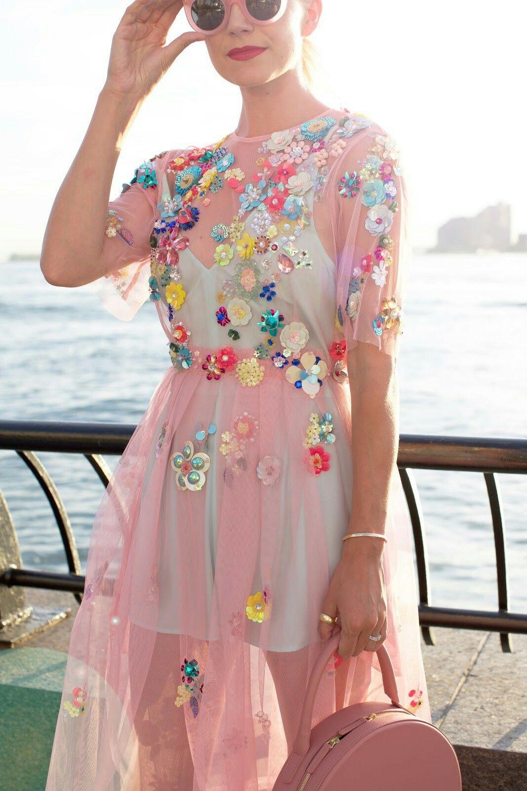 ASOS SALON 3D Floral Embellished Midi Dress Vestidos