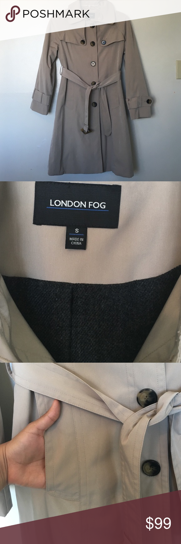 London Fog Coat Size Small Excellent condition  No model No trade  London Fog Jackets & Coats Trench Coats