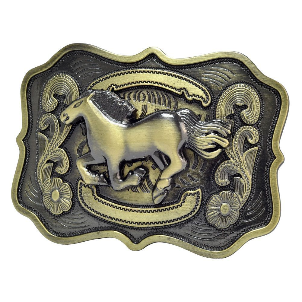 dca76015f21f Unisex Running Horse Country Western Belt Buckle   Products   Pinterest