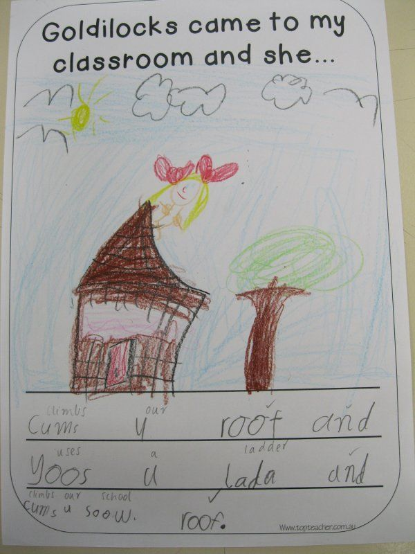 If Goldilocks came to our classroom Printable writing prompts - printable writing lines