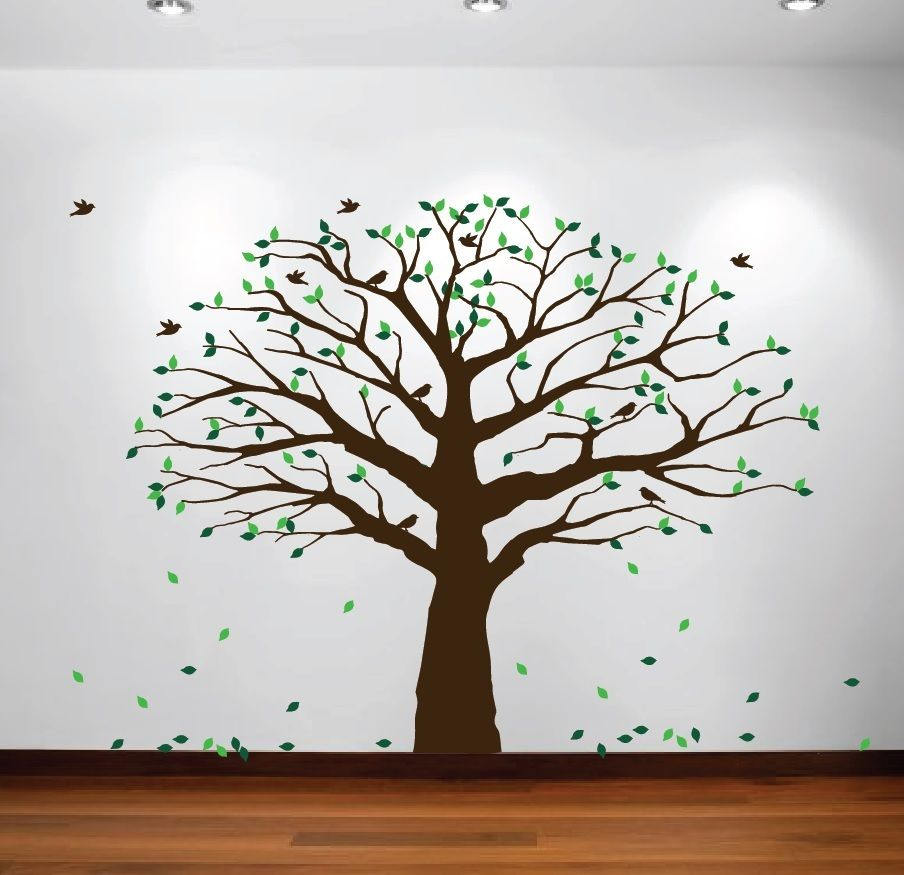Innovativestencils family tree wall decal oak large decal baby