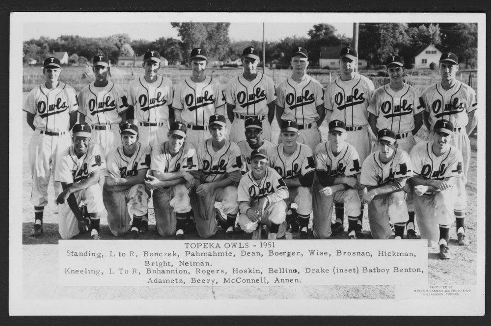 Topeka Owls Baseball Team In Topeka Kansas Topeka Baseball History Baseball Team