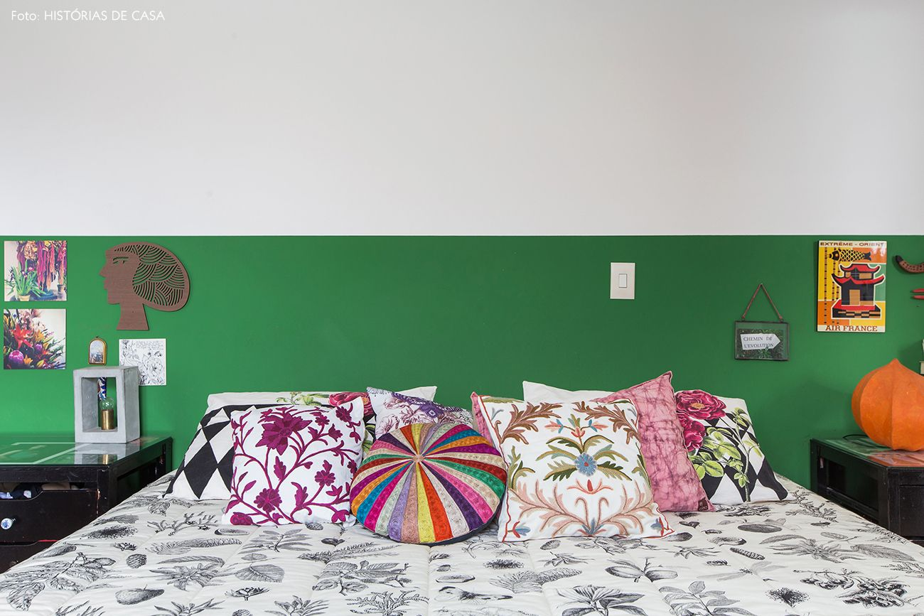 Alma De Artista Meias Paredes Cores Verdes E Quarto De Casal ~ Cores Para Pintar O Quarto Do Casal