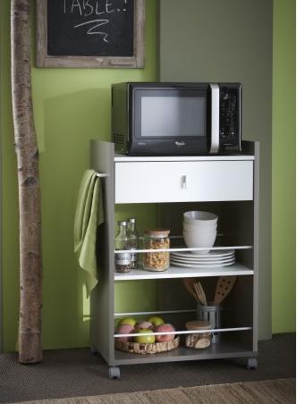 Carritos de cocina y microondas de conforama 2 carritos for Muebles de cocina conforama
