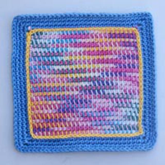 New To Crocheting Try This Easy Baby Afghan Square Potpourri