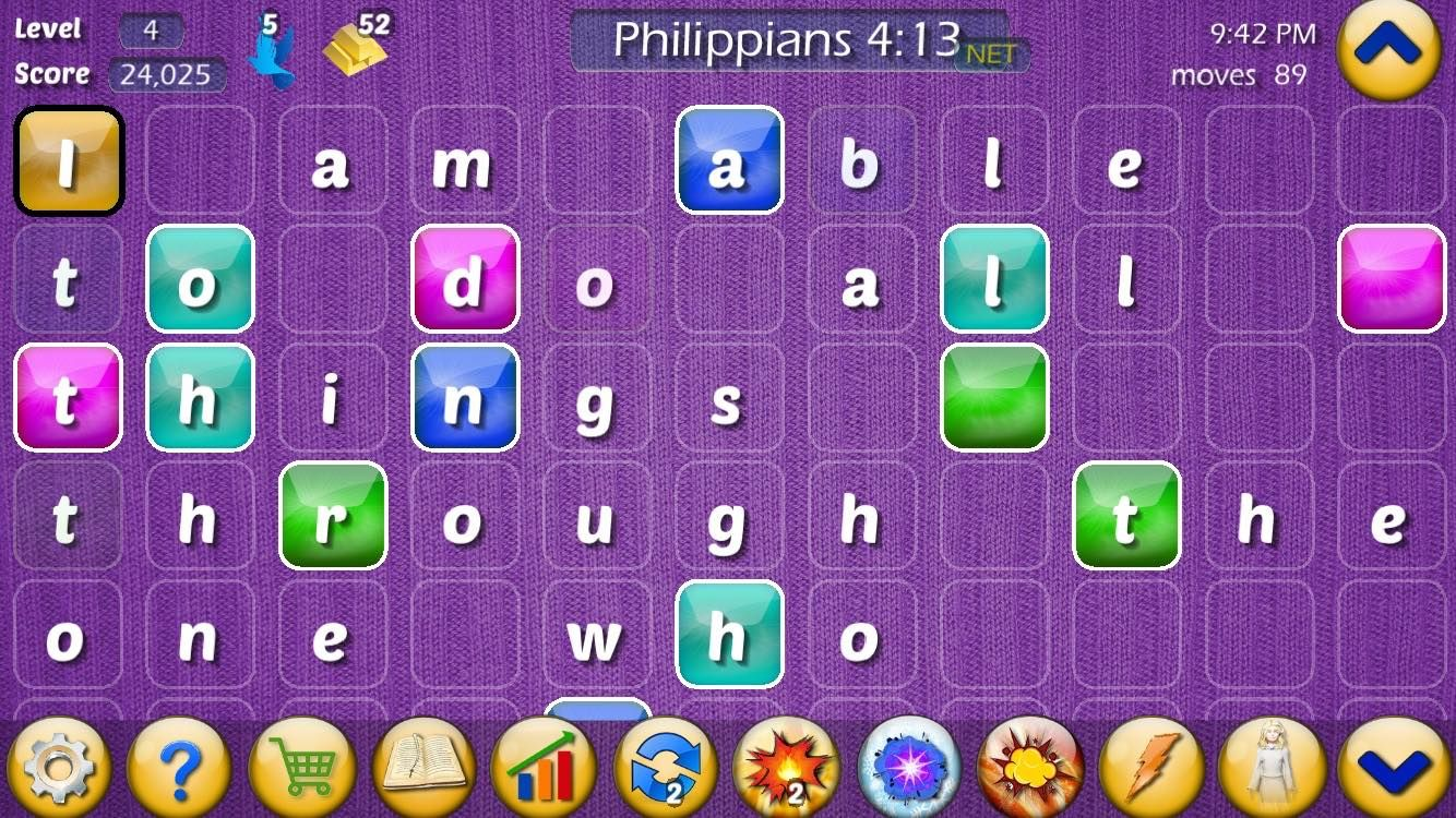 Play the Bible game screenshot of Philippians 413. Play