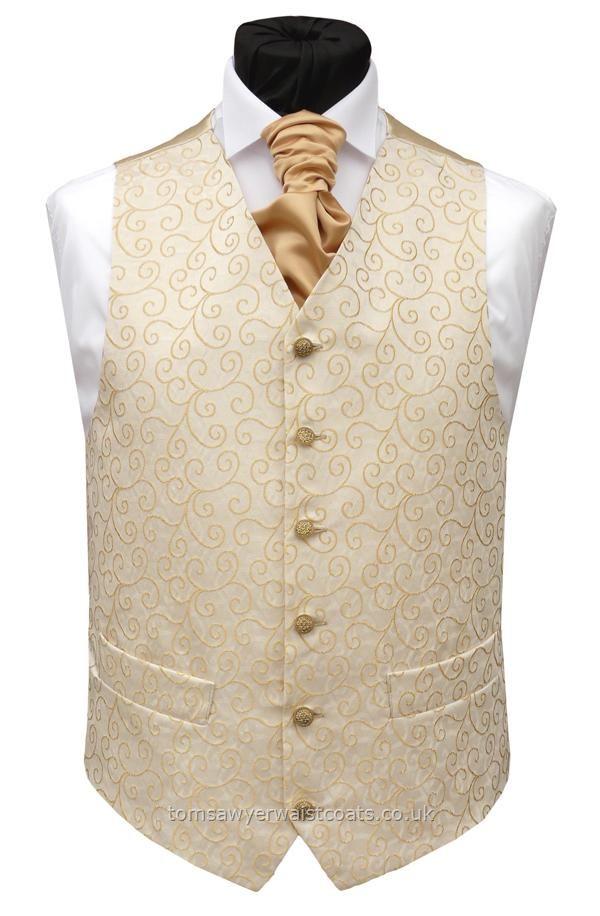 1d4a3380b05 Wedding Waistcoats : Gold Waistcoats : 'Rumours' Gold Non-Silk Waistcoat