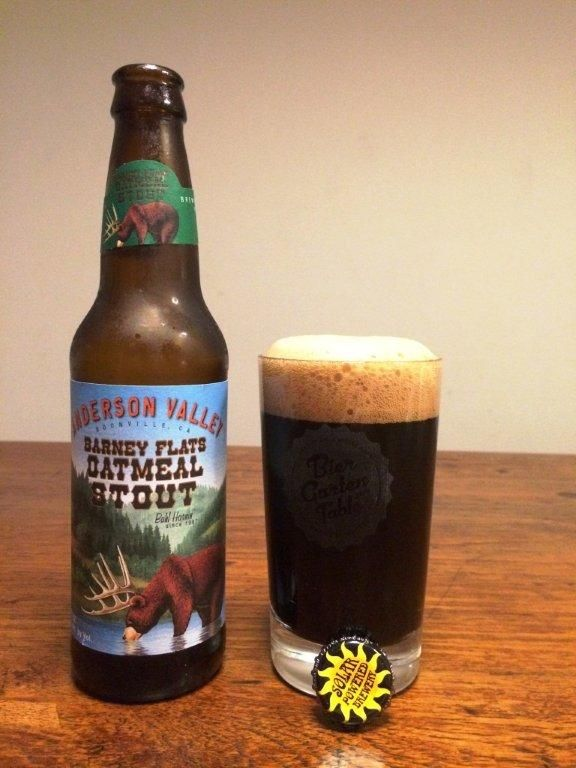 Oatmeal stout by anderson valley, powered by biergartentable.com