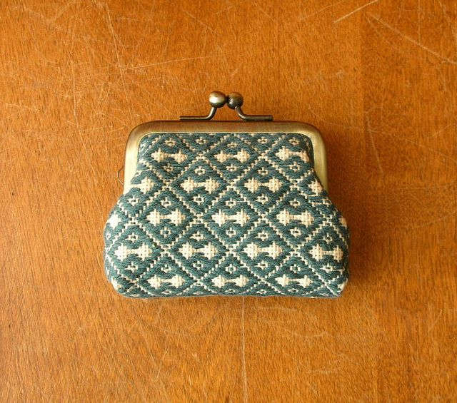 Kogin coin purse by aya*studio, via Flickr