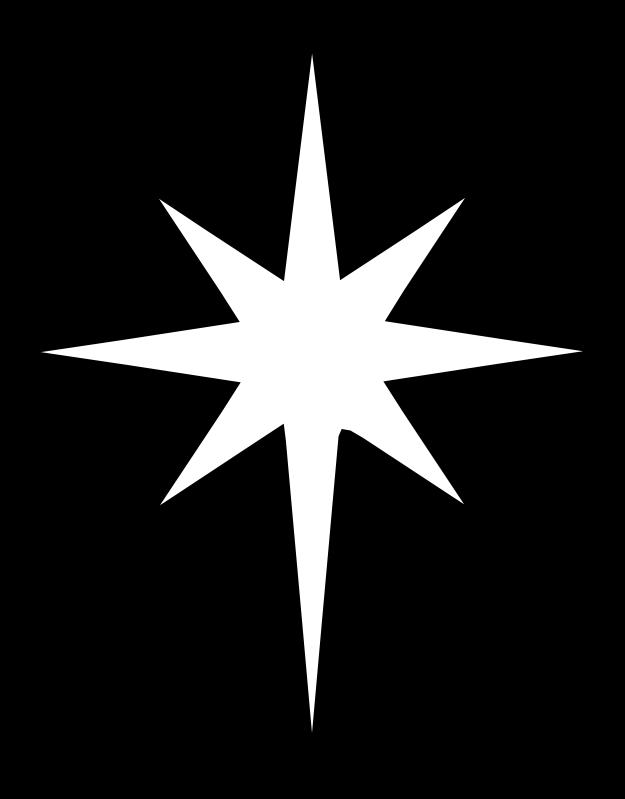 Bethlehem Star Template North Star Clip Art Chrismon Patterns Nativity Star Star Of Bethlehem