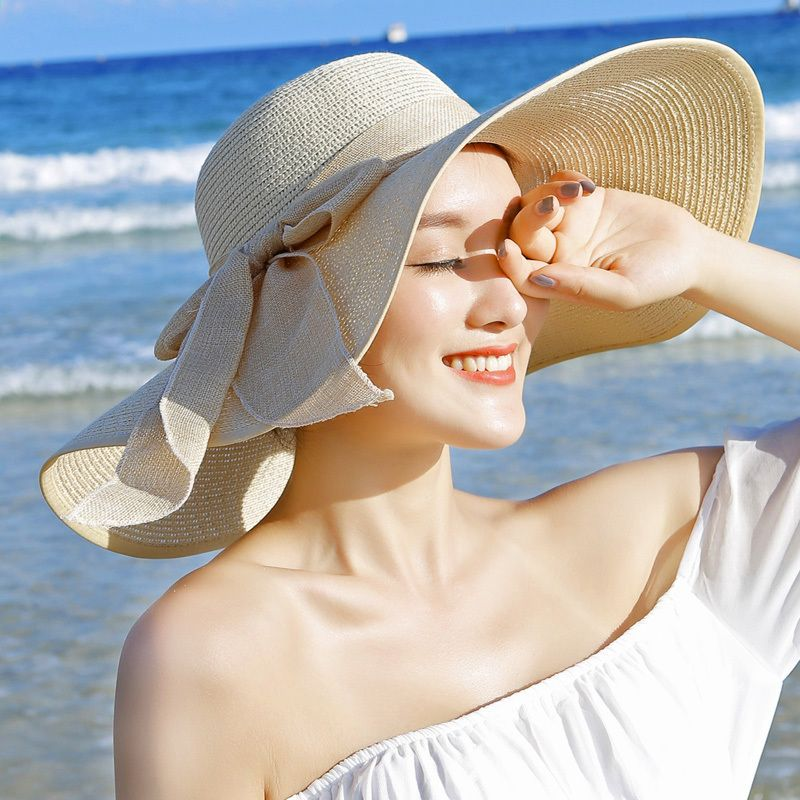 Buyuk Brim Gunes Sapka Yaz Kagit Hasir Sapkalar Kadinlar Bayanlar Uv Disket Plaj Kap Kentucky Derby Summer Hats For Women Sun Hats For Women Wide Brim Sun Hat