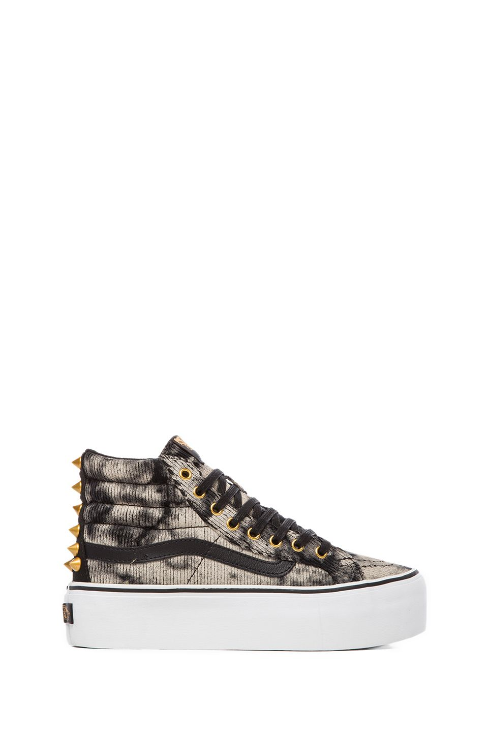 d553d49198c Vans SK8-HI PLATFORM in Black & Washed Cord from REVOLVEclothing ...