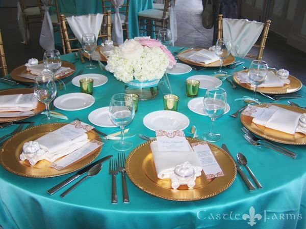 Turquoise And Gold Wedding Decor Google Search