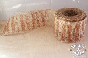 tutorial: stenciled burlap ribbon