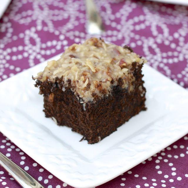 German Chocolate Sheet Cake Cake Recipes In 2019 Sheet