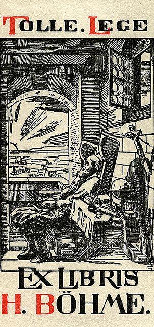 [Bookplate of H. Bohme]