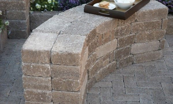Diy Rumblestone Seat Wall And Fire Pit Kit Installation Wall Seating Fire Pit Kit Fire Pit Landscaping