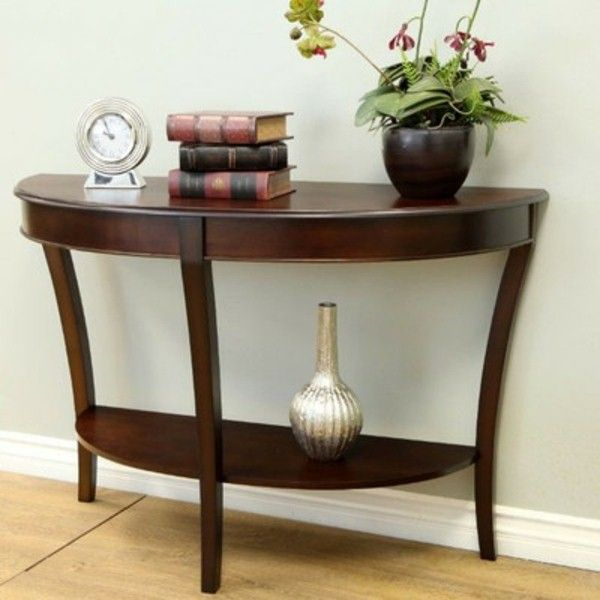 Classic Table In A Semi Circular Shape Traditional Living Room Furniture Console Table Round Sofa