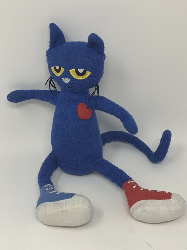 Details about merrymakers plush pete the cat in sneakers