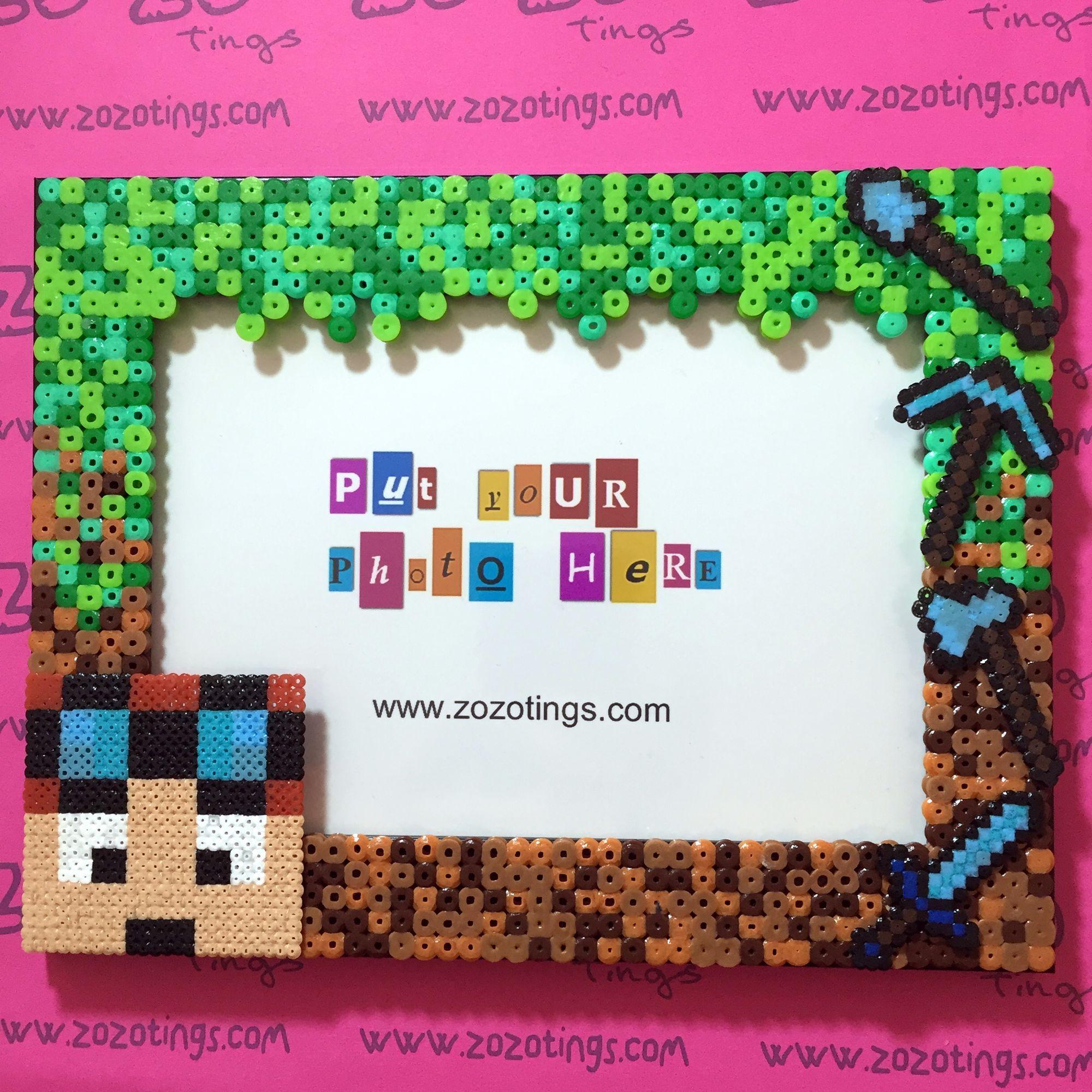 DanTDM Minecraft photo frame hama beads by Zo Zo Tings …   Pinterest