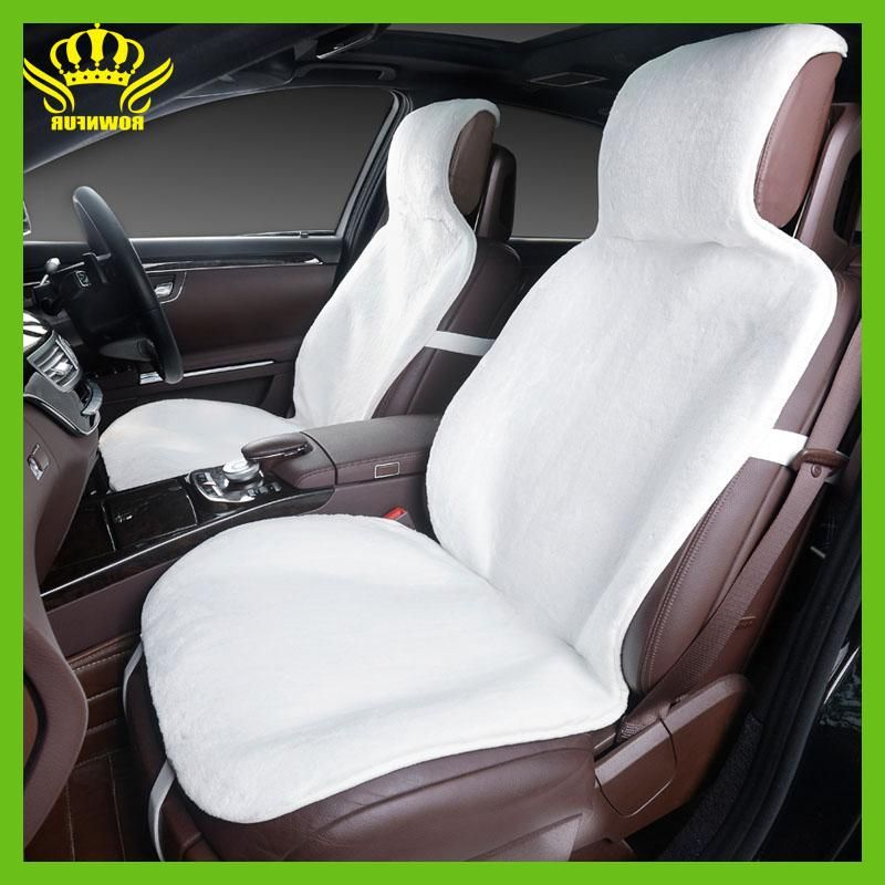 2015For 2 Front Car Seat Covers Faux Fur Cute Interior Accessories Cushion Cover Styling Winter