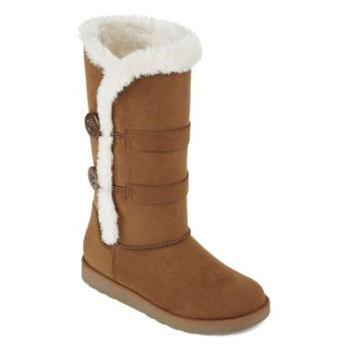 a2f9d2b9126f Arizona Womens Faux-Fur Button Boots found at  JCPenney