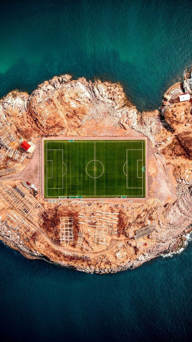 Henningsvaer Football Field Norway Photo Drone Photography Aerial Photography