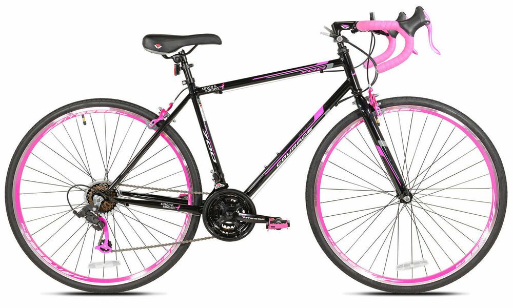 Sponsored Ebay 700c Pink Black Women S 21 Multi Speed Hybrid