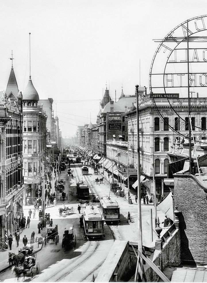 View from Spring Street in downtown L.A., 1902