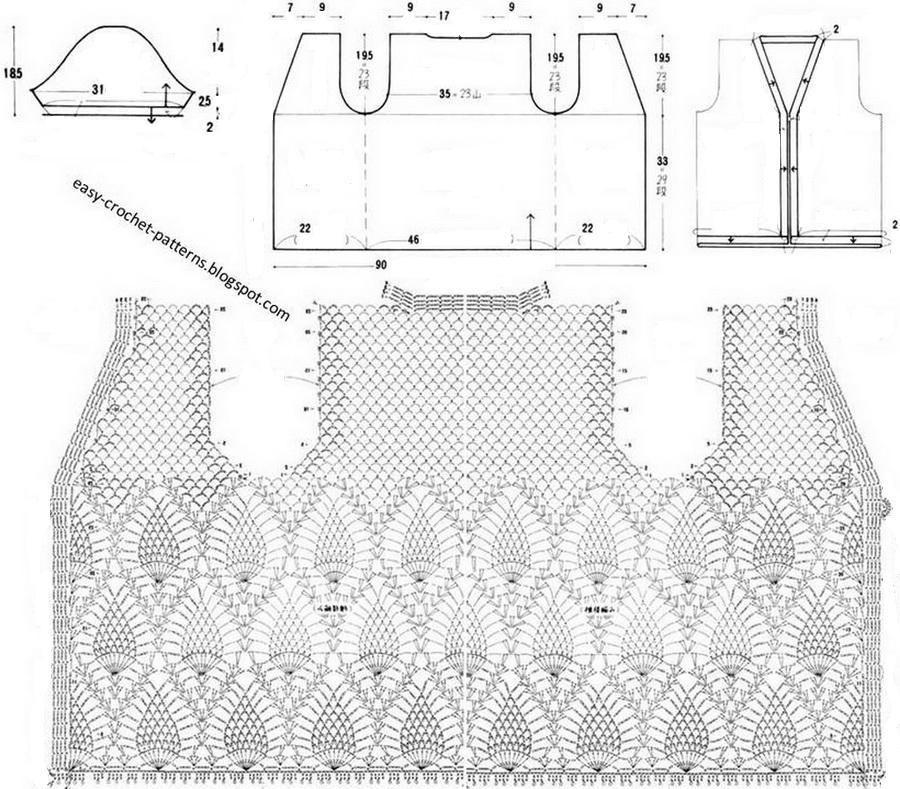 Elegant Crochet Sweaters: Women\'s Crochet Sweater with Free Pattern ...