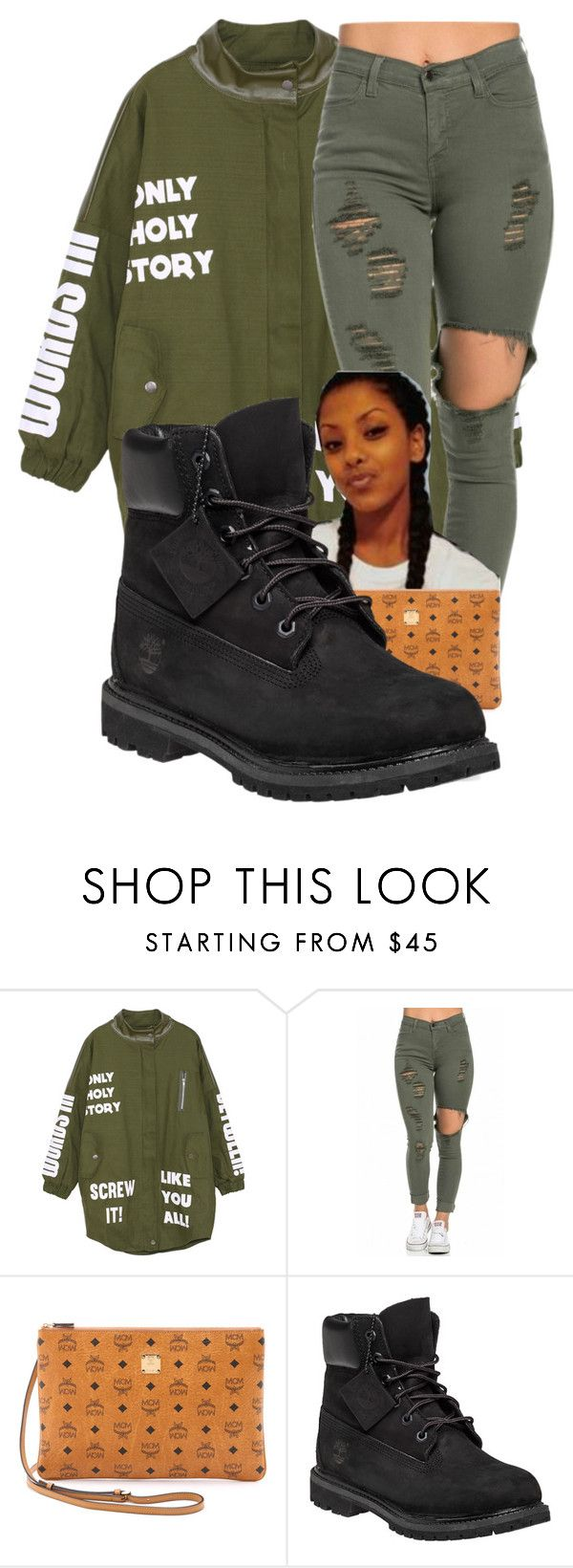 """With Cousin"" by shamyadanyel ❤ liked on Polyvore featuring MCM, Timberland, women's clothing, women, female, woman, misses and juniors"