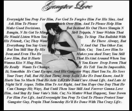 Gangsta Love Quotes Gangsta Love Quotes  Gangster Quotes About Love  Love Quote Image