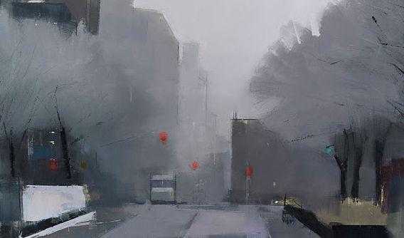 Lisa Breslow. Rua em West Village, dia de inverno. 2012