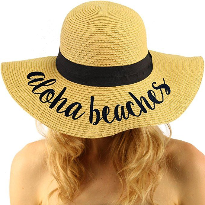 69a429045e5 Aloha Beaches Hat. Elegant Wide Brim Summer Beach Floppy Hat. This hat is  one size fits all. Straw Hats Off To You!  StrawHat  Summer2018  Hat   BeachHat ...